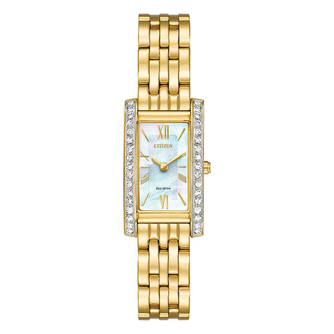 Citizen Women's Silhouette Crystal Gold Tone