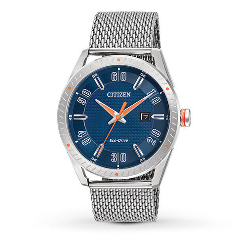 Citizen Men's Eco-Drive Mesh Bracelet Watch