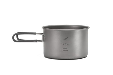 Titanium Cookware Bowl 800ml with Handle