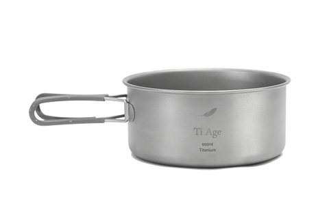Titanium Cookware Bowl 950ml with Handle