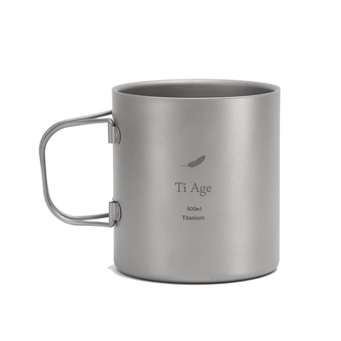 Titanium Double-wall Coffee Cup 600ml