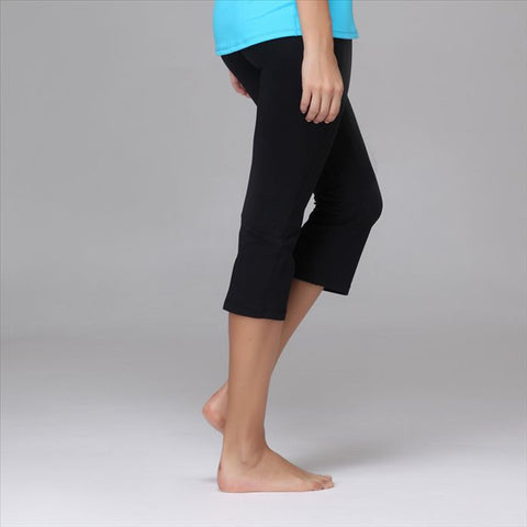 Black Capri Yoga Pants 3/4 Length