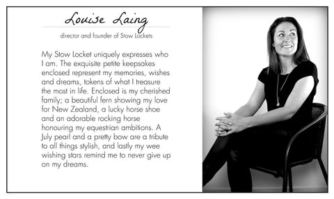 Louise Laing - Stow Lockets founder