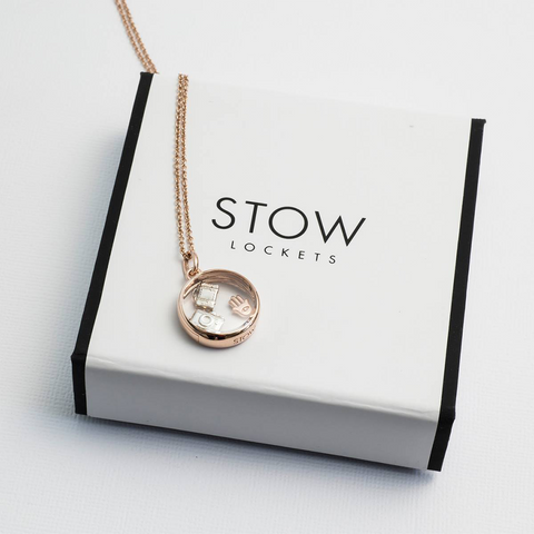 Stow Lockets medium rose gold locket pendant