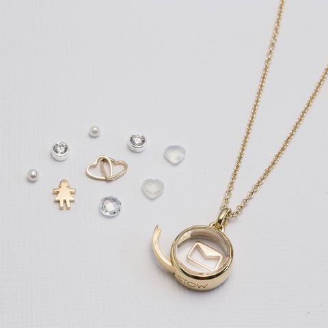 Stow Lockets petite gold locket pendant
