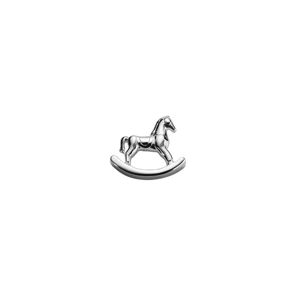 Stow Lockets sterling silver Rocking Horse - Adored silver charm