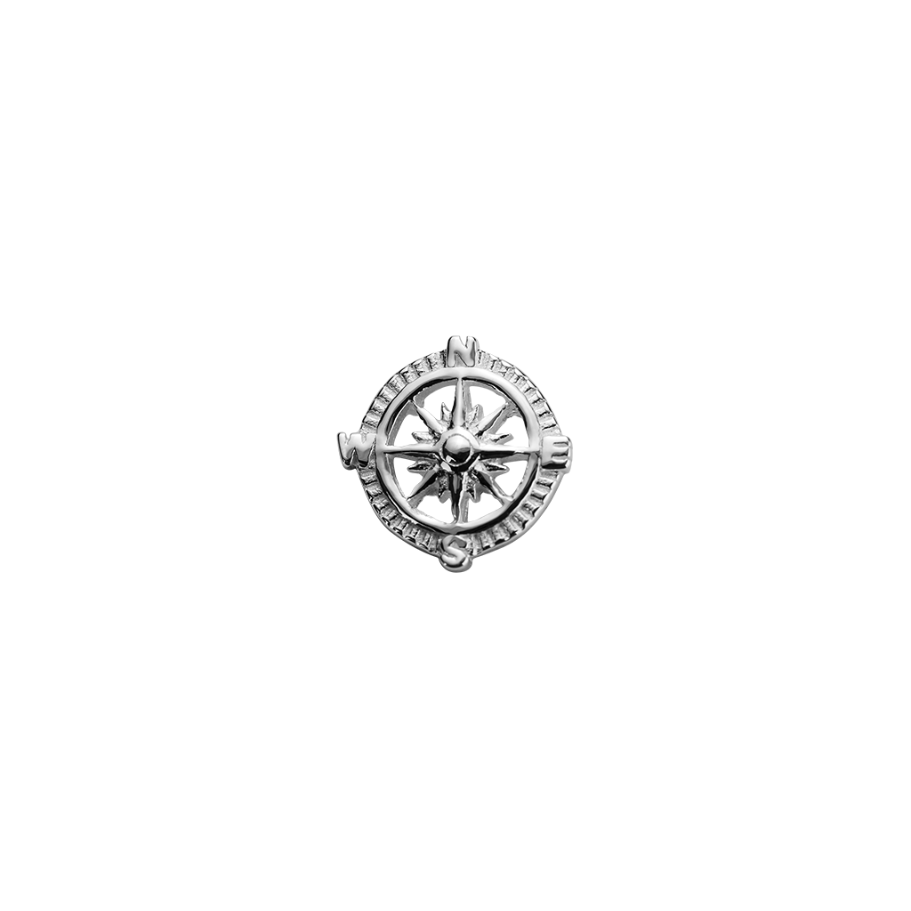 Stow Lockets sterling silver Compass - Direction silver charm