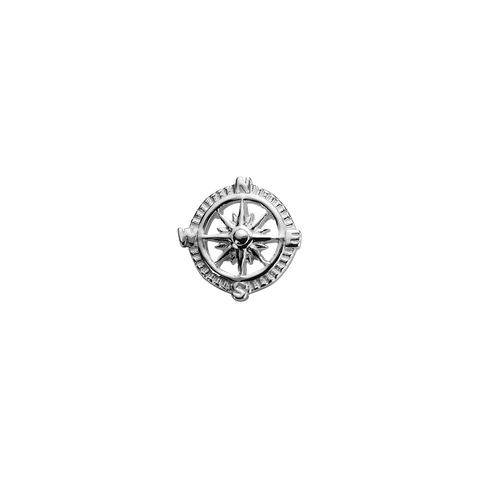 Compass - Direction silver charm