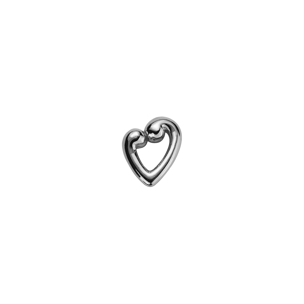 Koru Heart - Compassion & Love silver charm