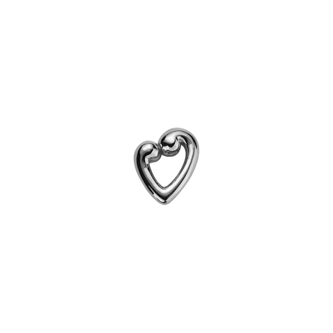 Stow Lockets sterling silver Koru Heart - Compassion & Love silver charm