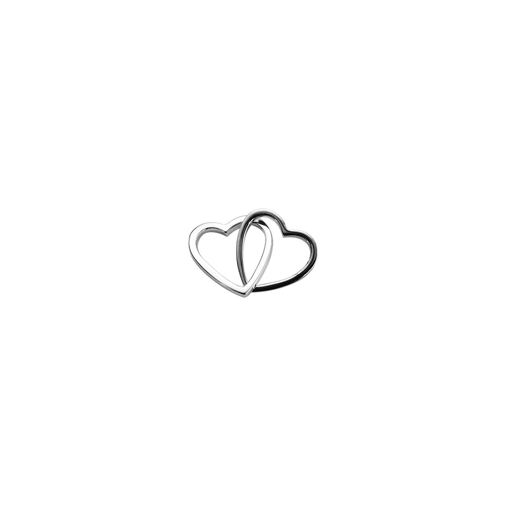 Stow Lockets sterling silver Love Hearts - Together silver charm