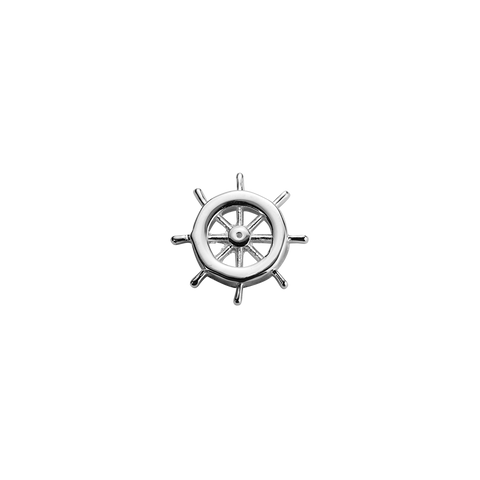 Stow Lockets sterling silver Navigation Wheel - My Voyage silver charm
