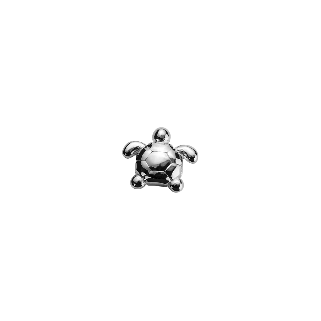 Stow Lockets sterling silver Turtle - Determined silver charm