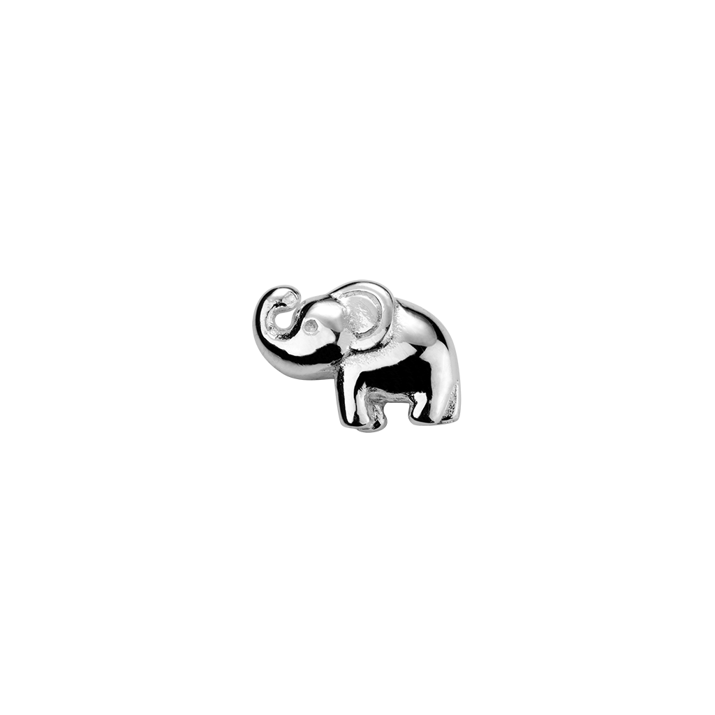 Stow Lockets sterling silver Elephant - Lucky silver charm