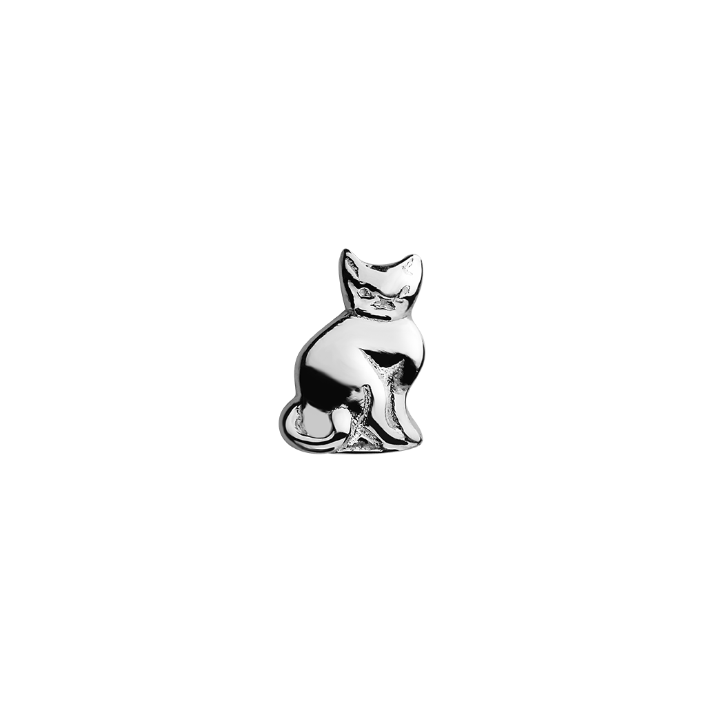 Cat - 9 Lives silver charm