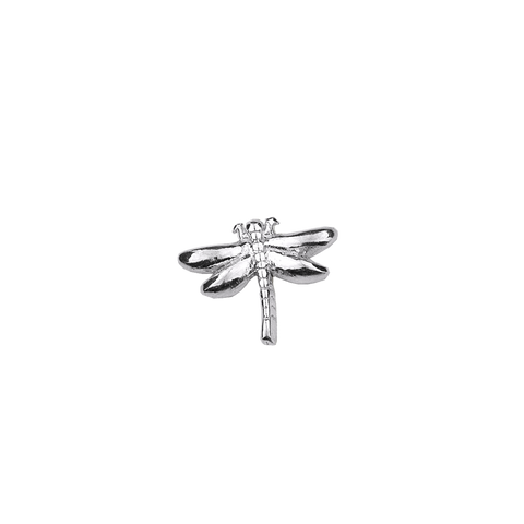 Dragonfly - Courageous silver charm