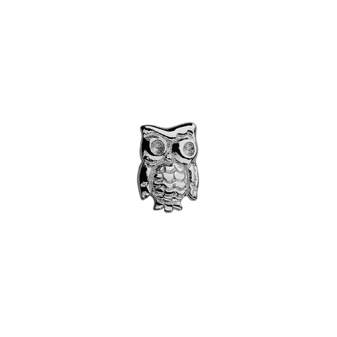 Owl - Wise One silver charm