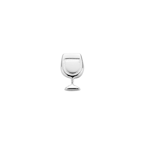 Wine Glass - Celebrate silver charm