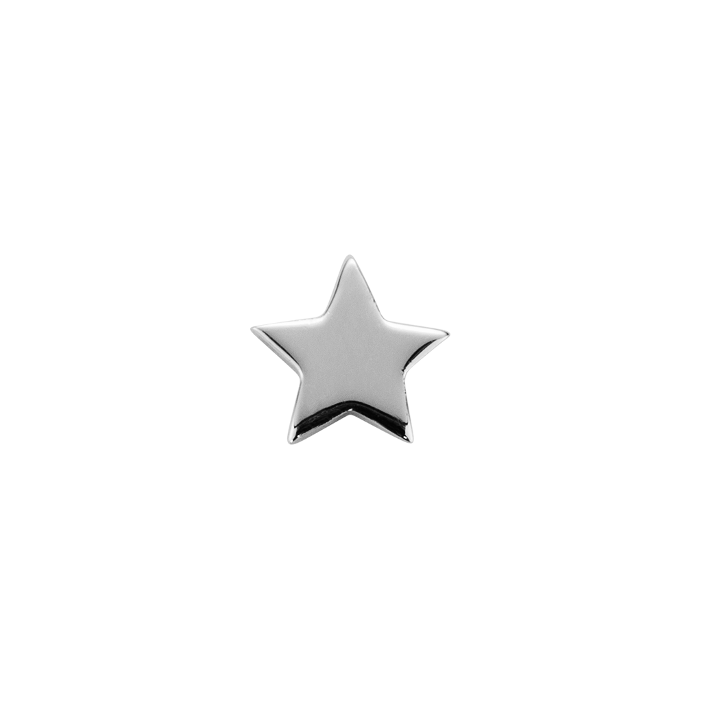 Stow Lockets solid sterling silver Shining Star - Brilliant silver charm