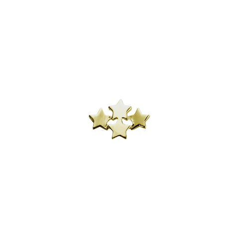 Gold Wishing Stars - My Dreams charm