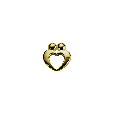Gold True Love - Yours Always charm