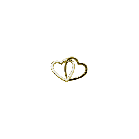 Gold Love Hearts - Together charm