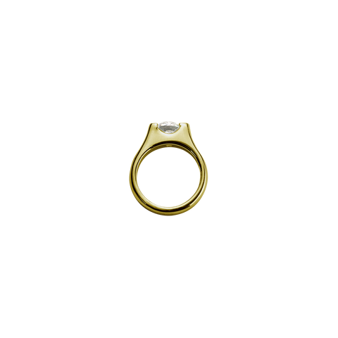 Gold Eternity Ring - Romance charm