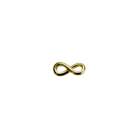 Stow Lockets 9ct Gold Infinity Twist - Devotion charm