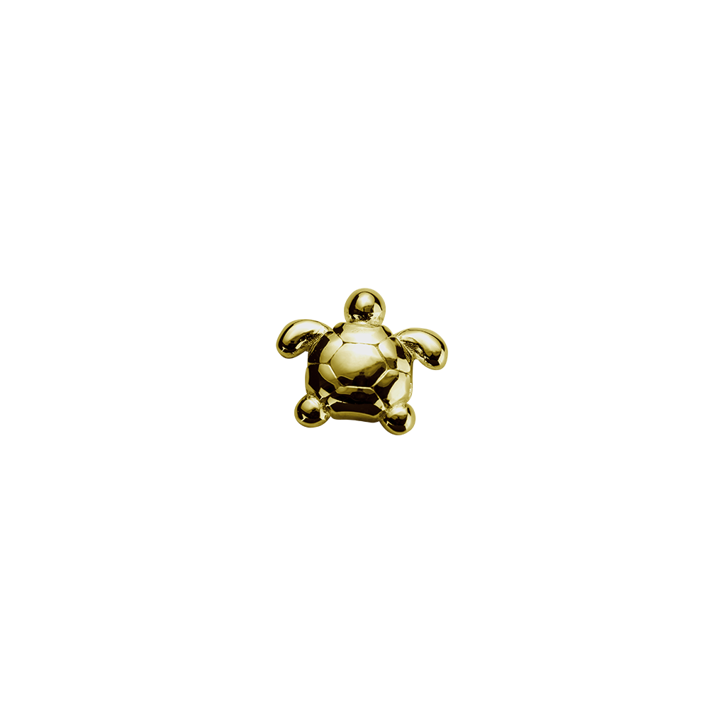 Stow Lockets solid 9ct Gold Turtle - Determined charm