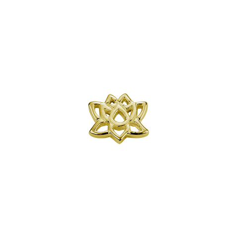Stow Lockets 9ct Gold Lotus - Enlightenment charm