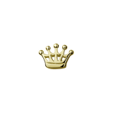 Stow Lockets solid 9ct Gold Crown - Queen Charm
