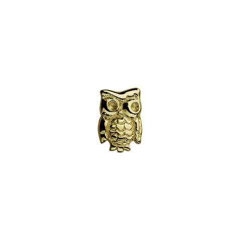 Stow Lockets solid 9ct Gold Owl - Wise One charm