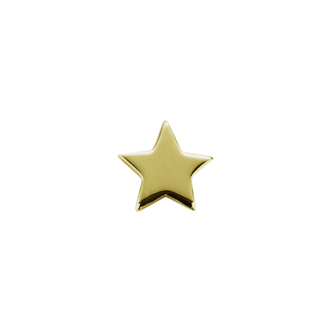Stow Lockets solid 9ct Gold Shining Star - Brilliant charm