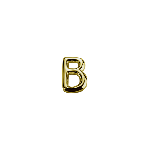 Stow Lockets solid 9ct Gold B letter charm