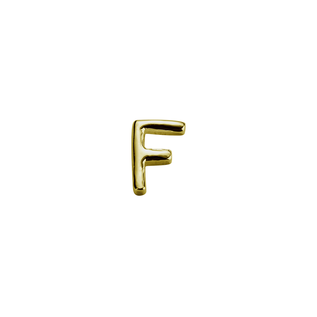 Stow Lockets solid 9ct Gold F letter charm