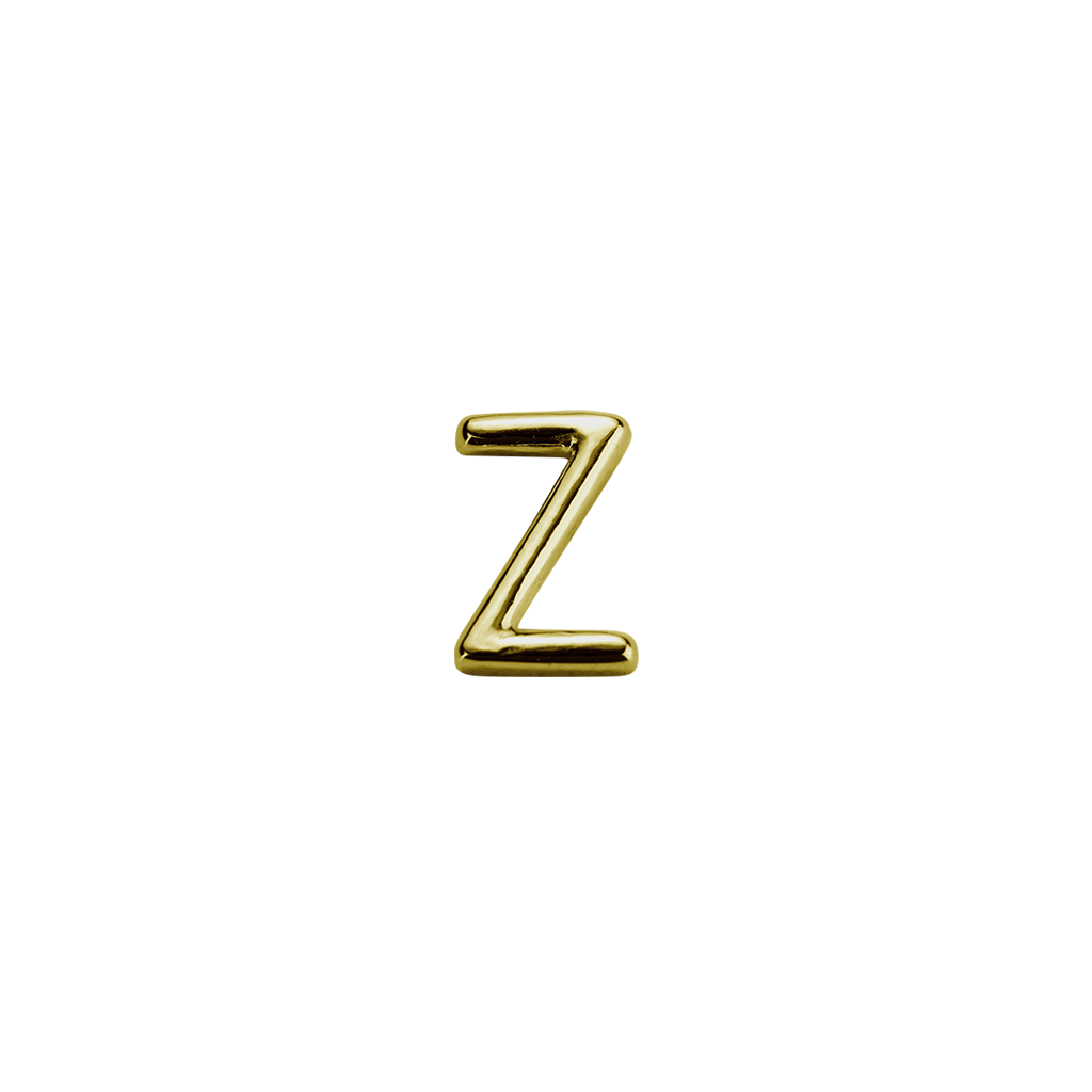 Stow Lockets solid 9ct Gold Z letter charm