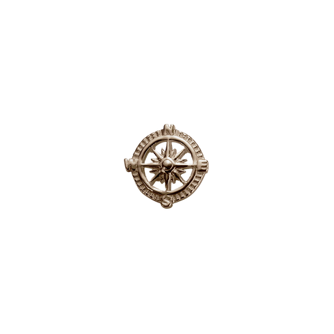 Stow Lockets Rose Gold Compass - Direction charm