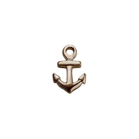 Stow Lockets Rose Gold Anchor - Strength charm