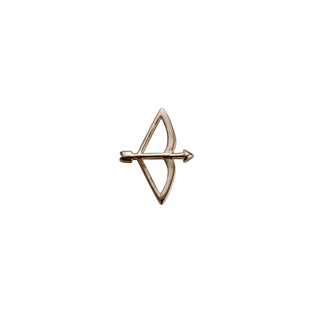 Rose Gold Bow & Arrow - Beloved charm