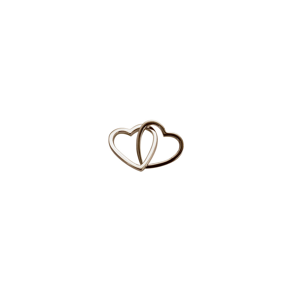 Rose Gold Love Hearts - Together charm