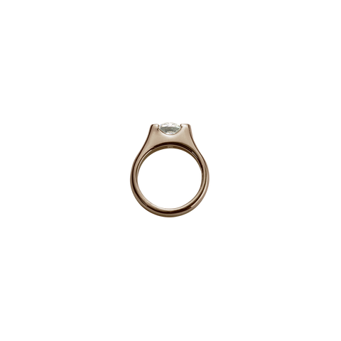Stow Lockets Rose Gold Eternity Ring - Romance charm