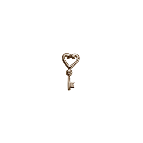Stow Lockets Rose Gold Key - Treasured charm