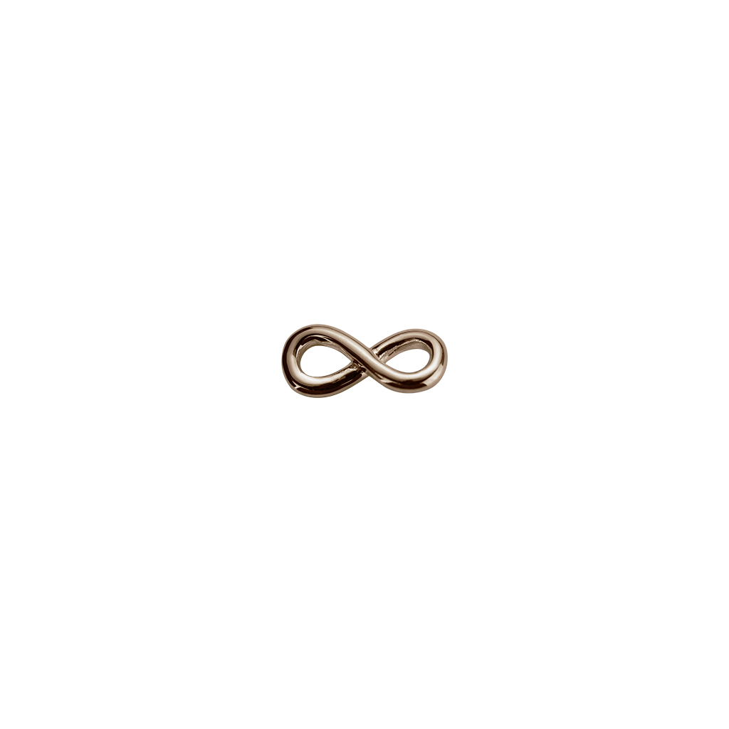 Stow Lockets Rose Gold Infinity Twist - Devotion charm