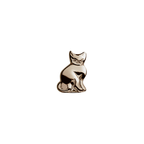Stow Lockets solid Rose Gold Cat - 9 Lives charm