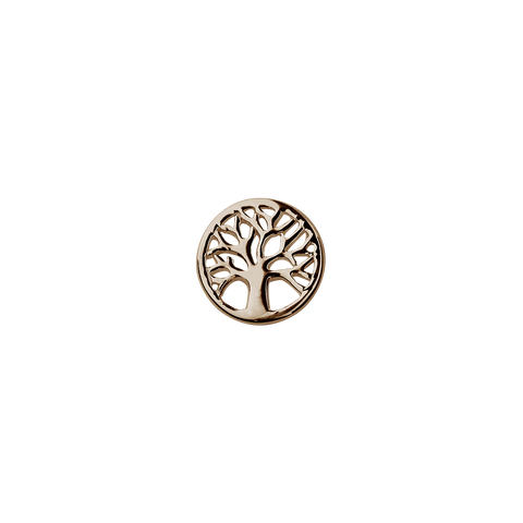 Stow Lockets solid Rose Gold Tree of Life - Vitality charm