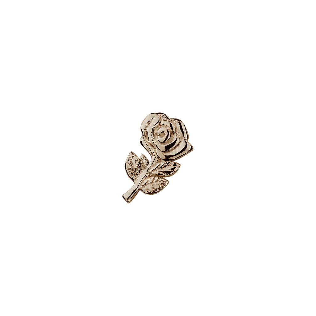 Stow Lockets solid Rose Gold Rose - Enchanting charm