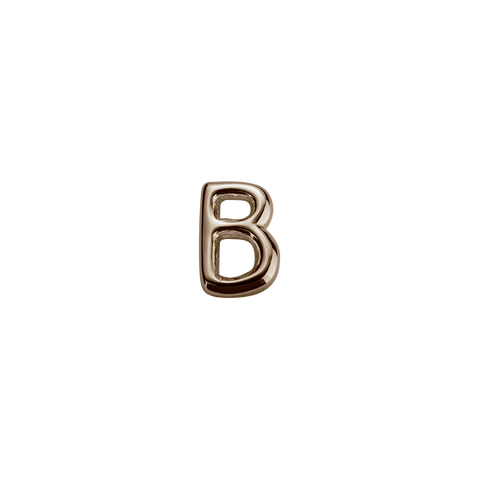 Stow Lockets solid Rose Gold B letter charm