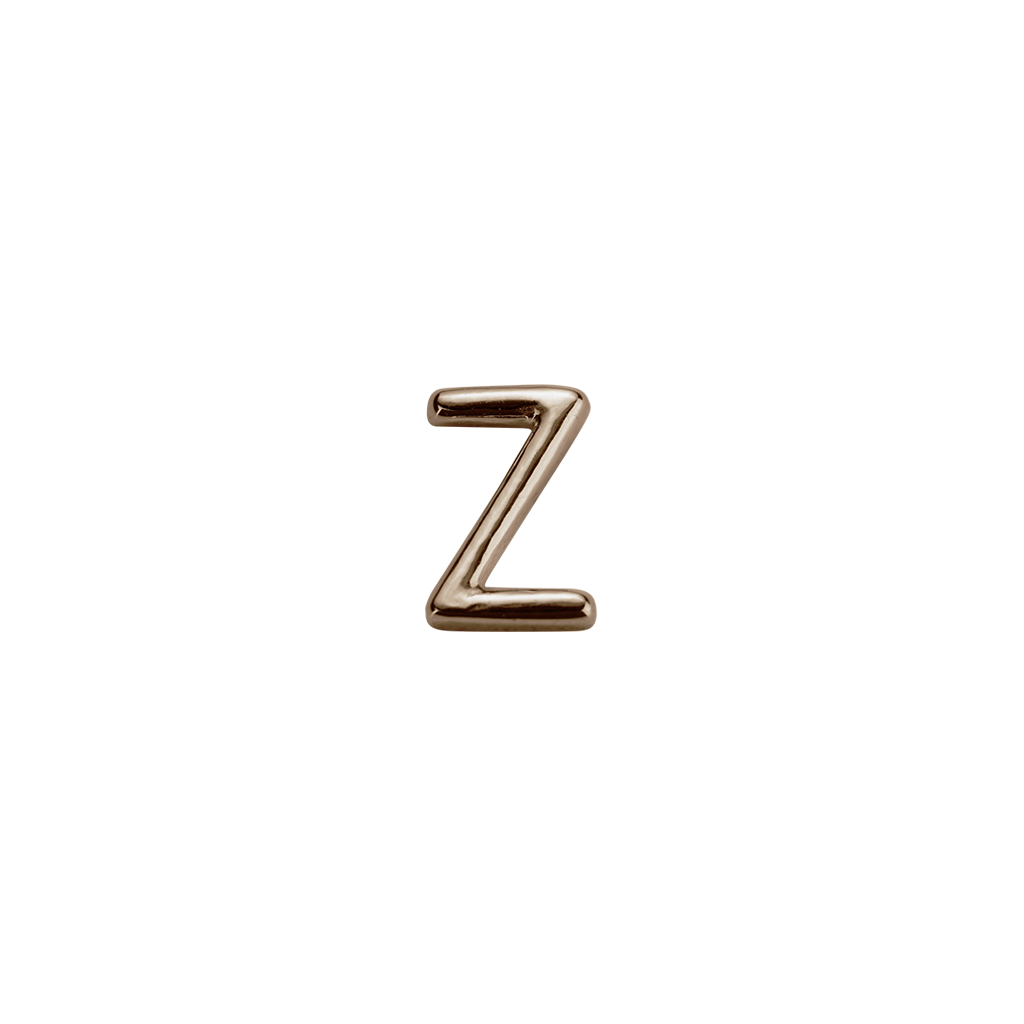 Stow Lockets solid Rose Gold Z letter charm