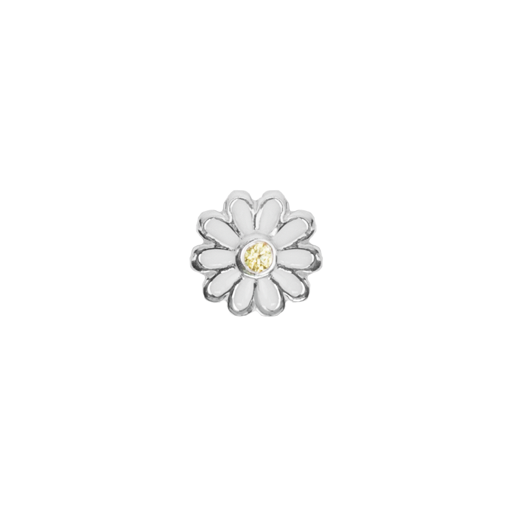 Stow April Daisy Enchanting enamel birth flower charm