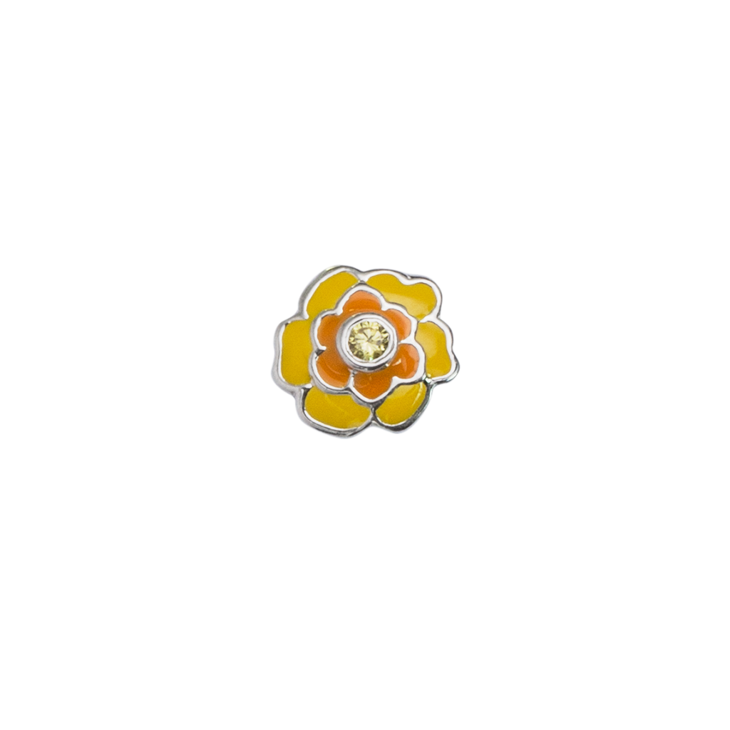 October Marigold - Devotion birth flower enamel charm